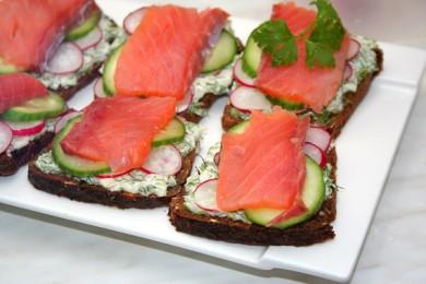 Рецепт Датский рыбный сэндвич