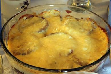 Рецепт Пикантные баклажаны запеченные с сыром