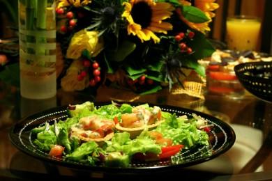 Рецепт Тарталетки с креветками под сырным соусом