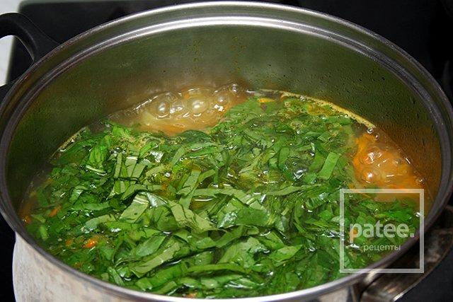Рецепт супа со щавелем без яйца