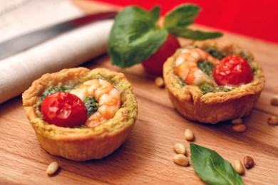 Рецепт Тарталетки с креветками