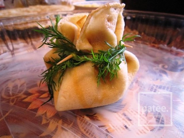 мешочки из блинов с начинкой рецепты с красной рыбой