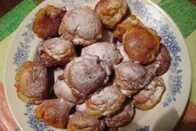 Рецепт Ванильные пончики с творогом