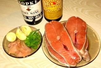 Пряные стейки  из лосося - Шаг 1