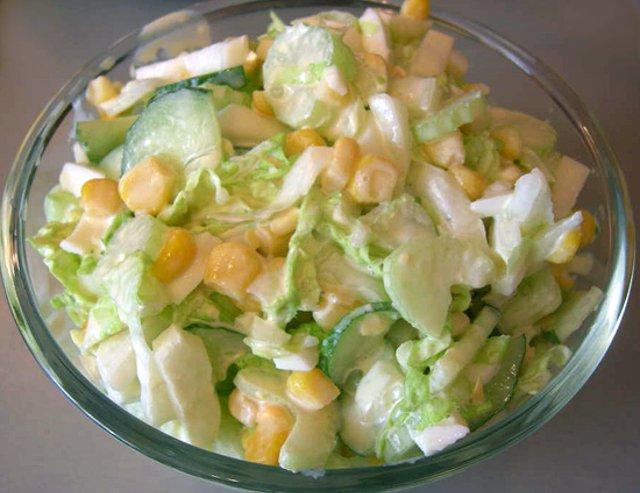 Рецепт салатов с огурцом с