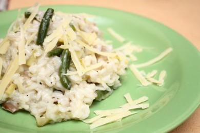 Рецепт Зеленое ризотто с грибами