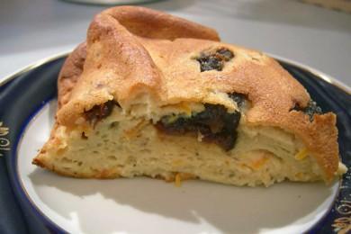 Рецепт Творожный пирог с черносливом и морковью