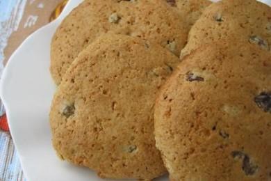 Рецепт Овсяно-медовое печенье с изюмом