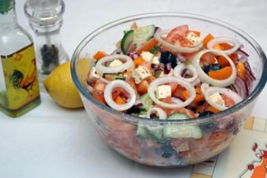 Рецепт Простой греческий салат