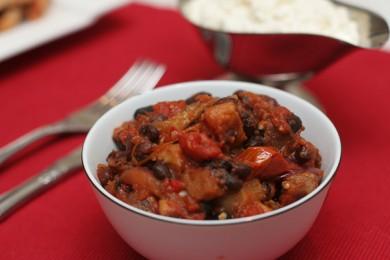 Рецепт Чили из черной фасоли и баклажан