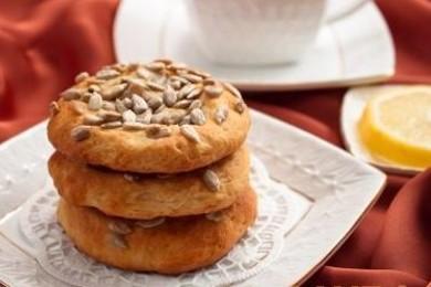 Рецепт Творожное печенье с семечками