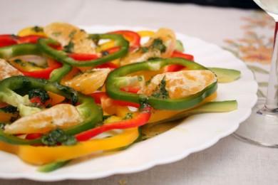 Рецепт Салат из сладкого перца с авокадо