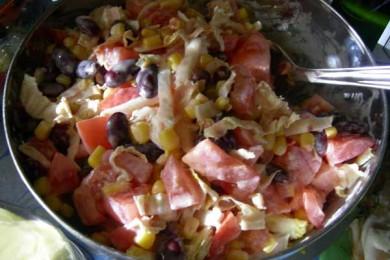 Рецепт Корейский салат с фасолью