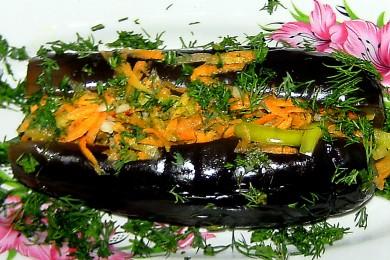 Рецепт Фаршированные соленые баклажаны