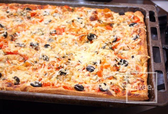 Рецепт пиццы из готового слоеного теста пошагово