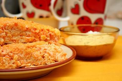 Рецепт Морковная творожная запеканка