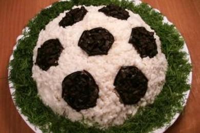 Рецепт Салат «Футбол»