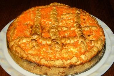 Рецепт Быстрый пирог с яблоками и творогом