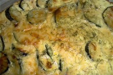 Рецепт Яичница с кабачками