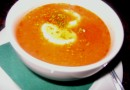 Суп-пюре из лука, риса и помидоров