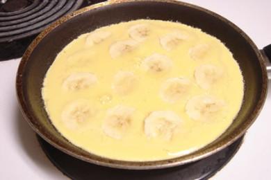 Рецепт Яичница с бананом