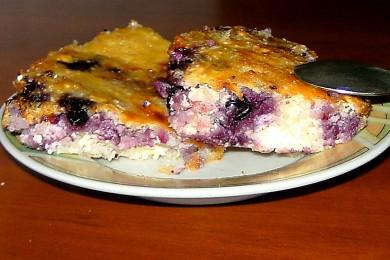 Рецепт Творожная запеканка с ягодами