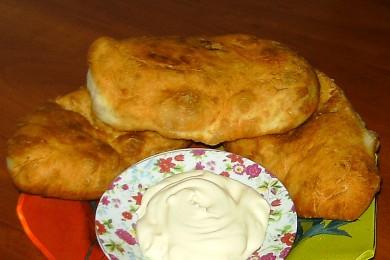 Рецепт Дрожжевые пирожки с картофелем и печенью