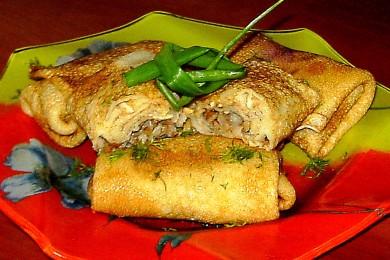 Рецепт Блинчики с гречкой и мясом