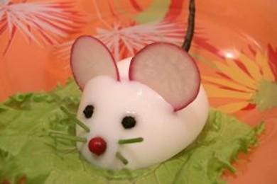 Рецепт Фаршированные яйца «Крысята»
