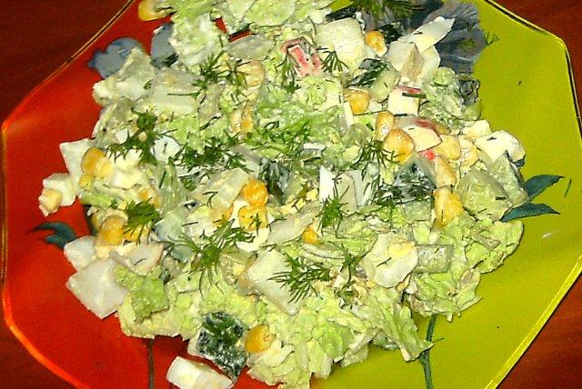 Салаты из пекинской капусты и кукурузы рецепты