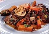 Жаренное мясо с грибами