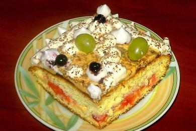 Рецепт Бисквит с масляным кремом и клубникой