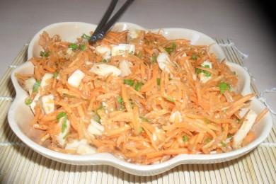 Рецепт Морковь по-корейски с кальмарами