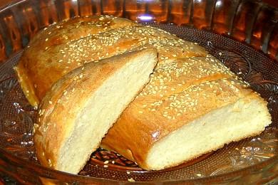 Рецепт Домашний батон с кунжутом