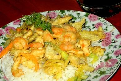 Рецепт Темпура с креветками