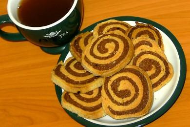 Рецепт Печенье песочное ванильно-шоколадное