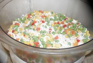 Теплый салат из