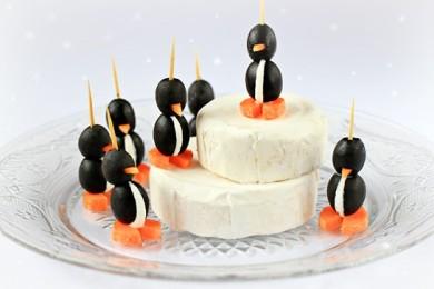 Рецепт Пингвинчики из оливок с сыром