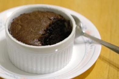 Рецепт Cуфле из черного шоколада