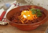 Чили-суп с шоколадом