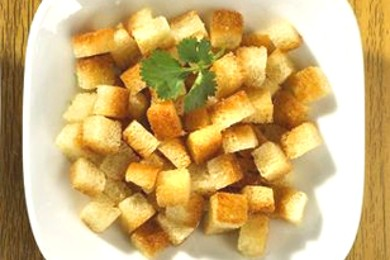 Рецепт Вкусные хрустящие гренки