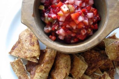 Рецепт Запеченные чипсы с корицей и сахаром