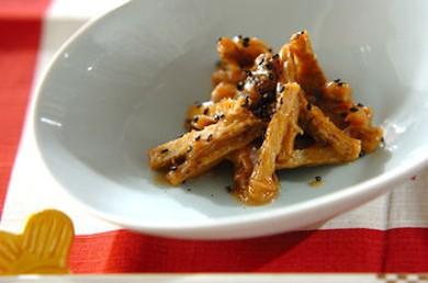 Рецепт Жареный лопух с кунжутом