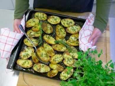 Рецепт Запеченый картофель с розмарином