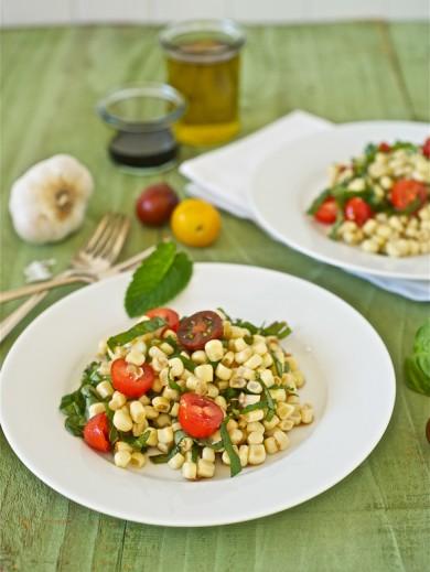 Рецепт Летний салат с кукурузой