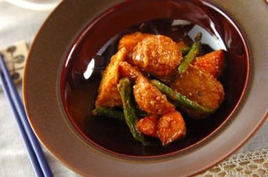 Рецепт Таро во фритюре с тофу под кунжутным соусом