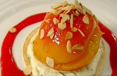 Рецепт Печеные персики с лимонным кремом