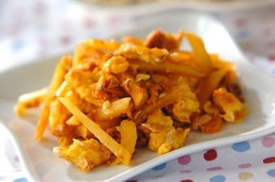 Рецепт Жареный картофель с омлетом