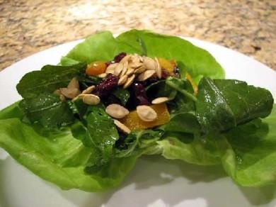 Рецепт Тыквенно - виноградный салат