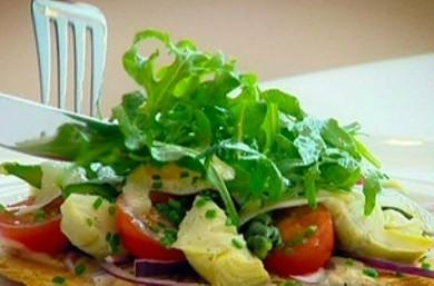 Рецепт Тарт с луком и перепелиными яйцами